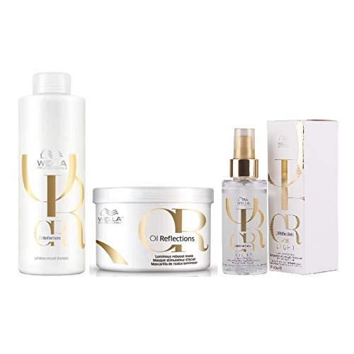 Kit Shampoo Máscara E Óleo Capilar Oil Reflections Light Wella Professionals