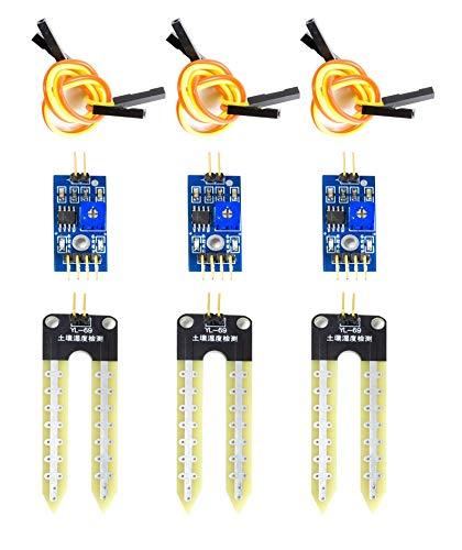 MissBirdler 3X Feuchtigkeitssensor Blumenerde Hygrometer für Arduino Raspberry Pi YL-69 SBT4447
