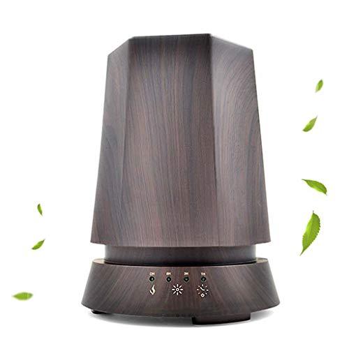 ZZRM Aroma Diffuser Luftbefeuchter 350Ml, Nebel Luftreiniger Mit LED-Licht Und Timer-Einstellung, Für Haus, Yoga, Büro, Spa, Babyzimmer-Holzmaserung