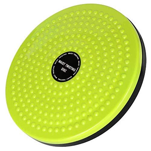Fitness Twist Taille Disc Board, Body Building Fitness Slim Twister Platte Übungsausrüstung 9,8 Zoll-Grün (Color : Green)