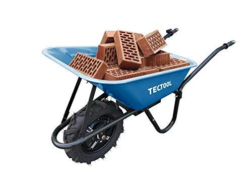 TECTOOL Elektrische Akku Motor-Schubkarre Ask 500 bis zu 7km/h Arbeits-Geschwindigkeit und 150 Liter Fassungsvermögen