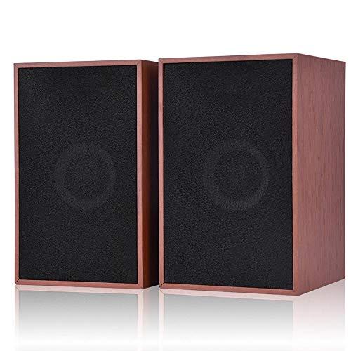 Computer-Lautsprecher, Mini-Lautsprecher aus Holz mit Subwoofer, laute...