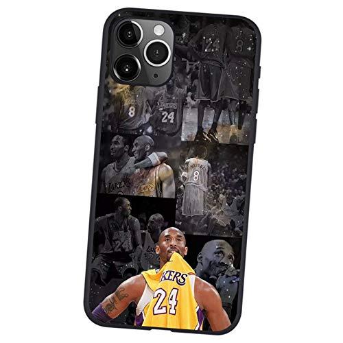 FDHG Kobe Bryant Handyhülle für iPhone 12/12 Mini/12 Pro/12 Pro Max, Basketball Lakers Black Mamba Ultradünne Schutzhülle, Fashion TPU Soft Shell Cover Case Case J-12 Pro Max (6,7 Zoll)
