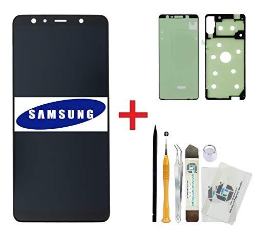 ITG® Kit de reparación de pantalla original para Samsung Galaxy Serie A (2018) - Original Samsung LCD Pantalla (Service Pack) + 3M Adhesivo + Set de Herramientas