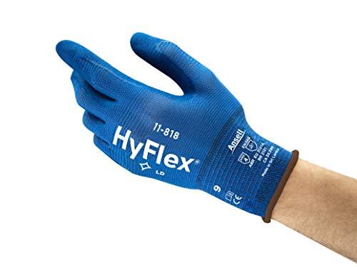 HyFlex Ansell 11-818 / 11 Mehrzweckhandschuhe, Mechanikschutz, Größe 11, Blau (12 Paar pro Beutel)