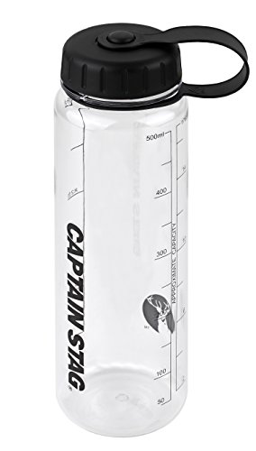 キャプテンスタッグ(CAPTAIN STAG) 水筒 ボトル スポーツボトル ウォーターボトル 500ml 直飲み ライス目盛り付き 3.3合 ブラック UE-3379
