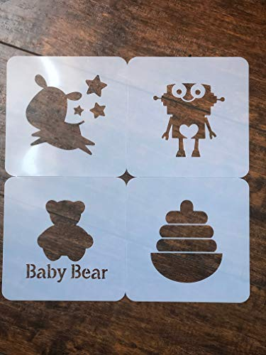 Stencils for baby shower - stencils for Fabric Markers I Baby Shower Games I Baby Bodysuit Onesie Stencil I Baby Shower kit I Stencils for Fabric Paint I -by Baby Shower Stencils