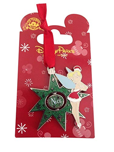 Disney Tinkerbell Christmas 2014 Naughty/ Nice Spinner Pin - Theme Park Exclusive