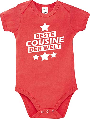 Shirtstown Body Bébé Meilleure Cousine Der Welt - Rouge, 18-24 Monate