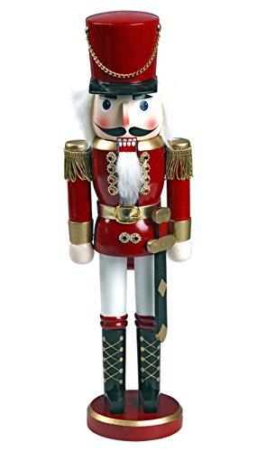"""Nussknacker Nußknacker """"Soldat"""" ca. 28 cm hoch aus Holz farbig Weihnachten Advent Geschenk Dekoration (92020-28b)"""