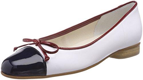 Gabor Shoes Damen Basic Geschlossene Ballerinas, Blau (Marine/Weiß/Cherry), 38 EU