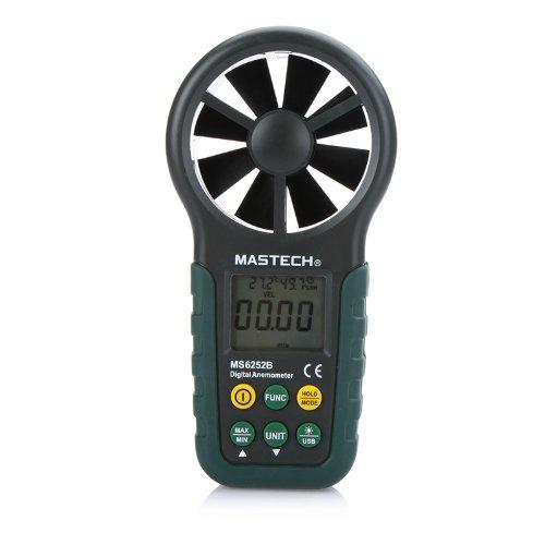 MASTECH Anemometro Digitale LCD Meter di Velocità del...