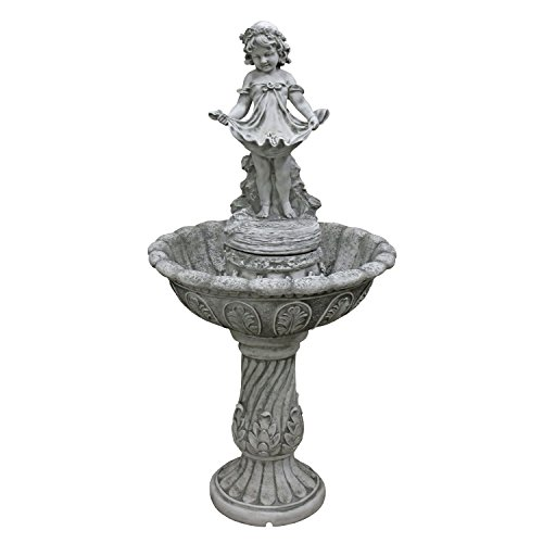 Water Fountain - Nearly 4 Foot Tall Abigail's Bountiful Apron Garden Decor Fountain - Outdoor Water Feature