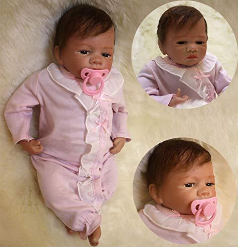 ZIYIUI 20 Pulgadas Muñeca Reborn Bebes Reborn Silicona Blanda Reborn Muñecos Bebé Recién Nacido Navidad Regalo de Juguete Baby Doll Bebe Reborn Niña Ojos Abierto