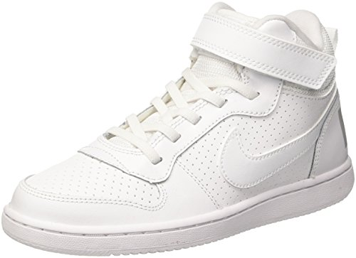Nike Court Borough Mid (PSV), Zapatos de Baloncesto Niños, Blanco (White/White 100), 28.5 EU