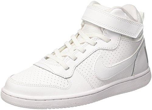 Nike Court Borough Mid (Psv)-870026, Jungen Basketballschuhe, Weiß (White/White 100), 35 EU