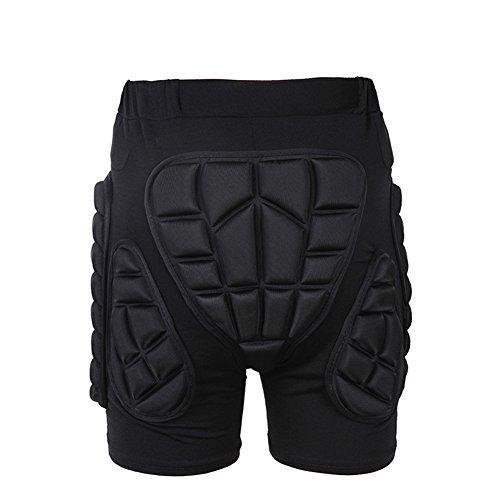 Tentock Erwachsene/Kinder Hüft-Schutz-Shorts 3D Kompression Schutzhosen Gepolsterte für Skater Snowboarder zum Skifahren Eislaufen(M)