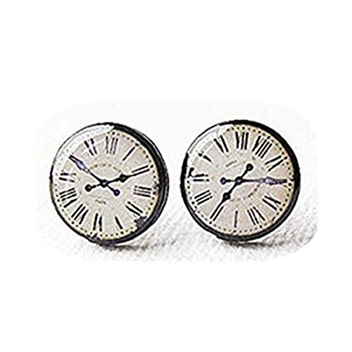 Youkeshan Reloj vintage - Cara de reloj - Pendientes de tuerca