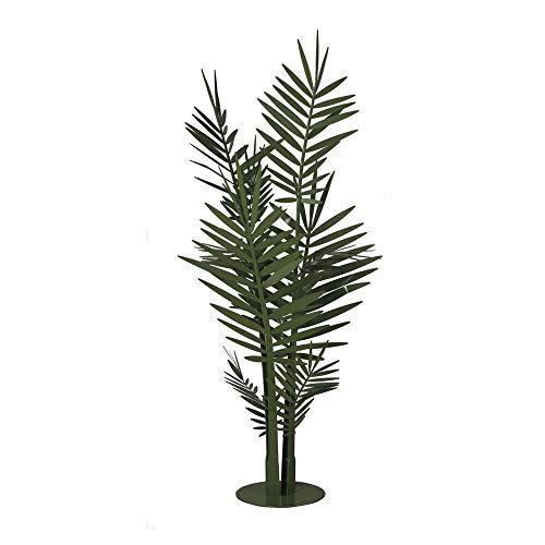 Arts et métiers Sculpture de Terre Palmier Grand Kenzia Big Vert Jardin en métal