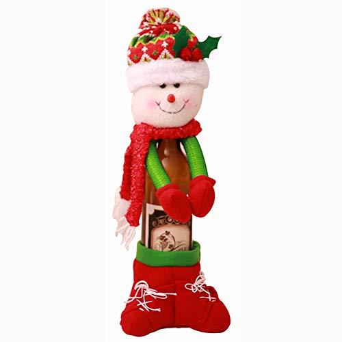 Tavolo da pranzo di Natale Dandeliondeme Decor Santa Claus Snowman Wine Bottle cover Xmas Gift Merry Christmas Gift Snowman