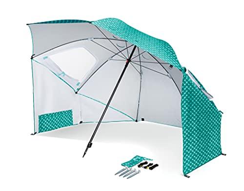 Sport-Brella Portable All-Weather and Sun Umbrella, 8-Foot Canopy, Turquoise Tragbarer Allwetter und Sonnenschirm, 2,4 m Baldachin, Türkis, 53 cm