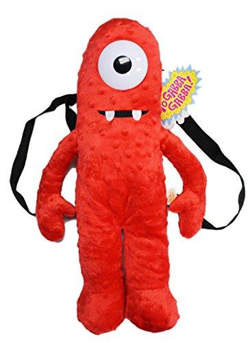 Yo Gabba Gabba! Muno Red Colored Kids Plush Backpack (17in)