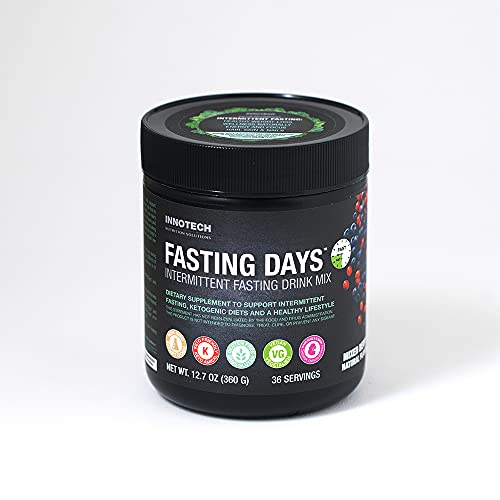 INNOTECH Nutrition: Fasting Days Intermittent Fasting Drink Mix - Mixed Berry 360g with 42 Essential Ingredients