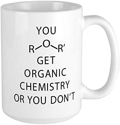 CafePress You Get Organic Chemistry Coffee Mug Large 15 oz White Coffee Cup product image