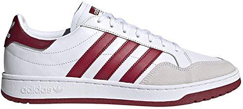 adidas Modern 80 EUR Court, Zapatillas de Running Hombre, FTWR White Collegiate Burgundy Core Black-Mochila Escolar, 39 1/3 EU