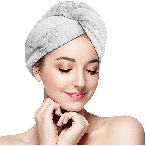Marmo handdoek voor het drogen van het haar wit handdoek turbanet kap voor droog haar douchekop voor lang krullen