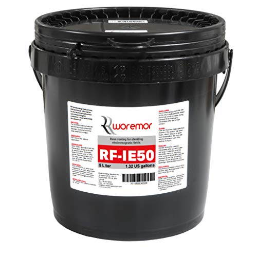 WOREMOR RF-IE50 EMR & RF Shielding Paint Protecting from HF, RF/RFID Bluetooth, Cell Towers EMI 5 Liter - EMR-WM-RFIE50