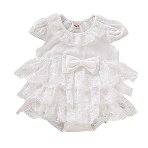 New Romper Ikevan Newborn Infant Baby Girl Solid Lace Floral TUTU Romper Bodysuit Clothes Outfits (1...