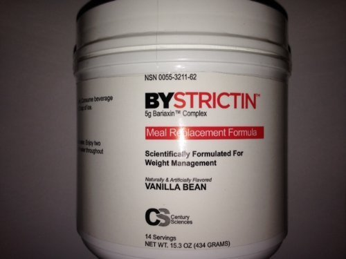 BYSTRICTIN Meal Replacement Formula Weight Management Expands in Your Stomach 50 times - Vanilla Bean - 15.3oz by Century Sciences