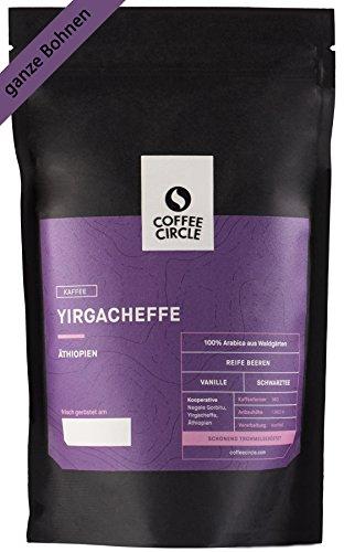 Coffee Circle | Premium Kaffee Yirgacheffe | 350g ganze Bohne | Fruchtiger Filterkaffee aus äthiopischen Waldgärten | 100% Arabica | fair & direkt gehandelt | frisch & schonend geröstet