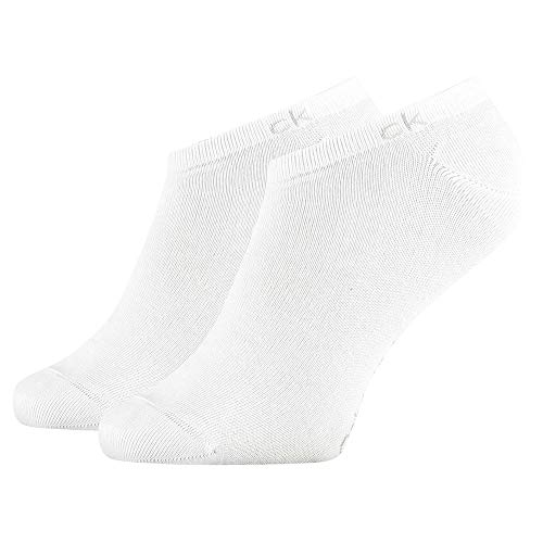 Calvin Klein Socks Mens Herren Sneakersocken ECP250G, Schwarz, 43/46 Socks, White