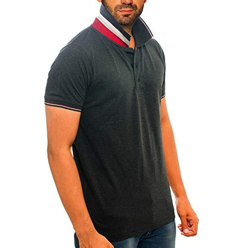 69Turtles Men's Cotton Half Sleeve Collar Tshirt - Denim