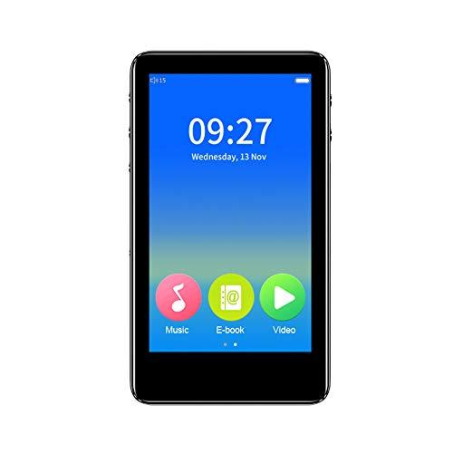 Reproductor de MP3 Bluetooth 5.0 de 3.0 Pulgadas, Pantalla táctil Completa 1080P HD 8GB Reproductor de Video MP4, Reproductor de música sin pérdidas con Altavoces externos/Radio FM