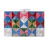 Bolsos Mujer Bolso De Acrílico De Moda Bolsos Bolso De Mujer Bolso De Fiesta De Mosaico Geométrico Colorido Bolso De Embrague De Boda Designc