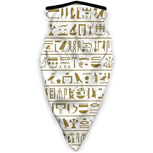BJAMAJ Oude Ikonische Egyptische Hiërogliefen Outdoor Gezicht Mond Masker Winddicht Sportmasker Ski Masker Sjaal Bandana Mannen Vrouw