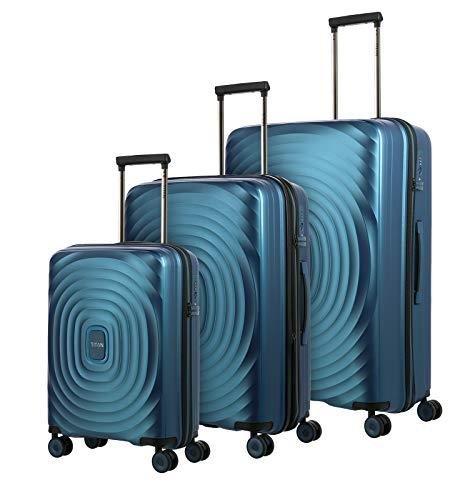 Gepäck Serie LOOPING: Robuste und leichte TITAN Hartschalen Trolleys, 4-Rad Koffer Set Größen L/M/S, Handgepäck erfüllt IATA-Bordgepäck Maß, 848102-22,...