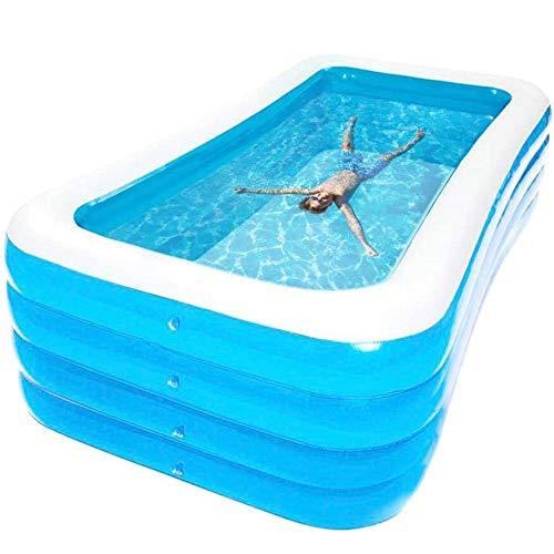 QXXZ Piscina Hinchable Familiar,PVC Oceano Piscina Infantiles,Piscina Hinchable Rectangular Grande para Patio, Adultos,Jardín y Exterior180cm