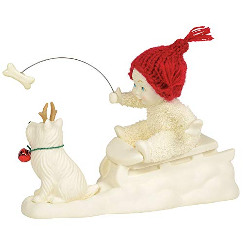 Department 56 Snowbabies Classics Won't You Guide My Sled Figurine, 4.5 Inch, Multicolor