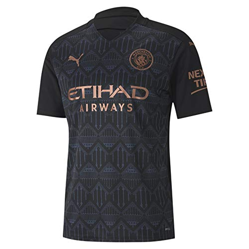 PUMA Men's Manchester City FC 2020-21 Away Jersey (Medium) Puma Black-Dark Denim