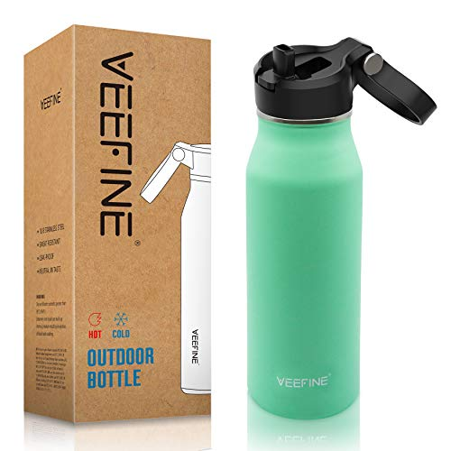VEEFINE Insulated Water Bottle with Straw Lid 203240oz Dishwasher Safe 188 Stainless Steel Water Bottle BPA-Free for Hiking Camping Yoga and Gym