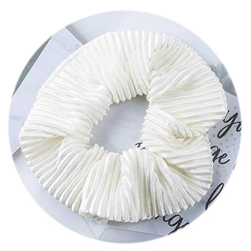 OULN1Y Bandeaux Women's Scrunchies Snake Elastic Hair Bands Ladies Stretch Ponytail Rubber Headband Solid Headwear Hair Accessories,A WHITE