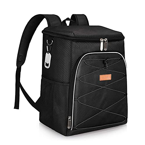 28L Picnic Backpack, Meal Container Backpack Large Insulated Cooler Bag,Big...