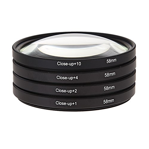 58MM Macro Close Up Lens Filter Kit +1 +2 +4 +10 Voor Canon EOS 650D 600D 18