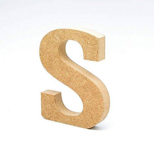 LA LLUNA ALWAYS CREATING Letras de Madera. Letras Grandes de Madera DM de 20cm de Alto para decoración y Manualidades. Disponible el Alfabeto Completo (S)