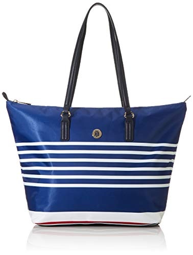 Tommy Hilfiger Poppy Tote, Borse Donna, Blu (Bretton Stripes), 1x1x1 centimeters (W x H x L)