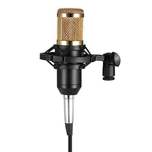 Andoer BM800 Microfone Condensador, com Cabo de Áudio de 3.5mm